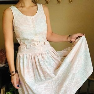 ⌈Vintage⌋ All That Jazz Floral Pastel Dress